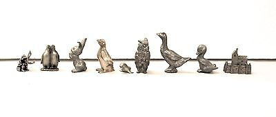 Miniature Pewter and Brass Figurines (9 in all)