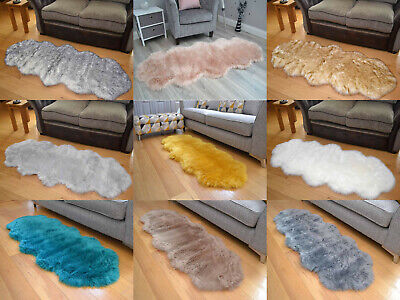 Large 65cm x 170cm Not Real Sheepskins Genuine Faux Fur Soft Thick Shaggy Rugs