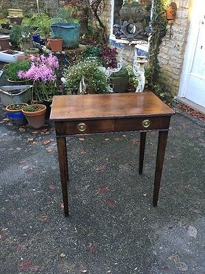 Early 19c Antique Georgian Mahogany Side Table Washstand With Dummy Drawer.