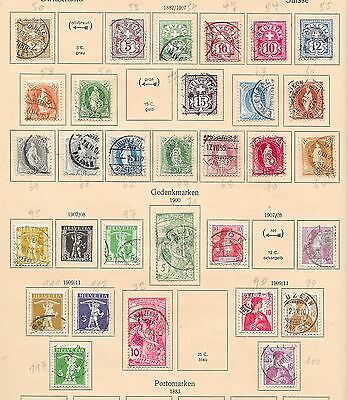 Switzerland stamps 1882 Collection of 30 CLASSIC stamps  HIGH VALUE!