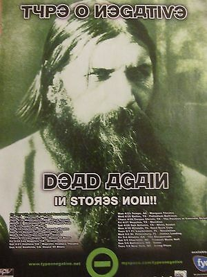 Type O Negative, Dead Again, Full Page Vintage Promotional Ad