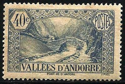 French Andorra 1932-1943 Scott # 33 Mint Hinged