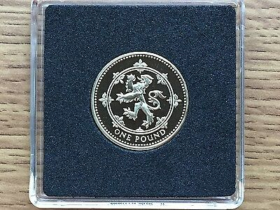 1999 £1 PROOF Coin - Scottish Lion - Royal Mint One Pound - Free Case