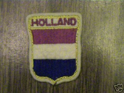 Country Of Holland,old Rare Felt Collectible Patch