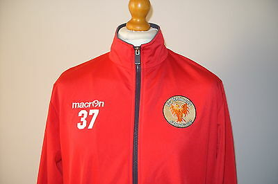 Large Fc Nomads, Connah's Quay Official Macron Player Worn Training Jacket *37*
