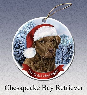 Dear Santa Define Naughty Ornament - Chesapeake Bay Retriever HO069