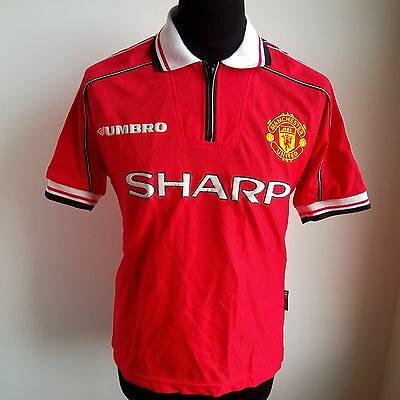 Manchester United 1998 Home Shirt Football Umbro Jersey Size Adult Xs