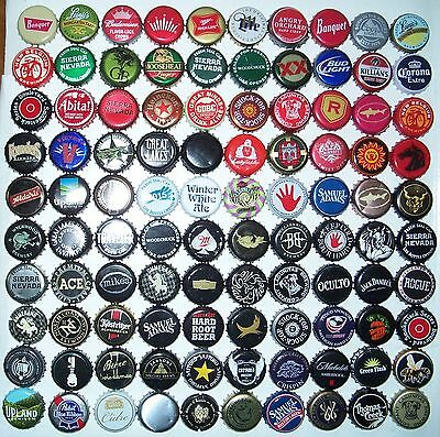 Lot of 100 different beer bottle caps,crowns,collection,arts,craft,microbrewery
