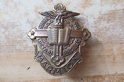 WW1 Destroyer m-class Marmion,PAX,Crede Re Deo Luctari Pro EO badge pin brass