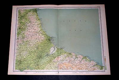 Antique MIDDLESBROUGH Survey Map 15 by Bartholomew for RGS 1903