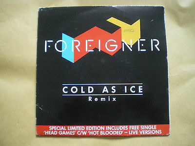 """Foreigner - Cold As Ice Remix - 7"""" Double Single"""
