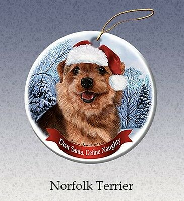 Dear Santa Define Naughty Ornament - Norfolk Terrier HO179