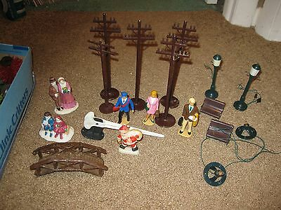 Lot of Railroad People Trees & More