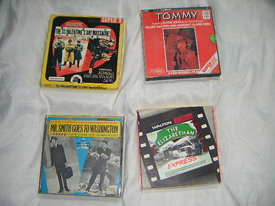 4x Boxed super 8mm Sound Films Tommy, Mr Smith Goes to Washington , + others