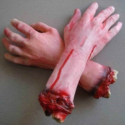 Life Size Dead Body Part-Severed Bloody Arm Hand-Chop Shop Halloween Horror Prop