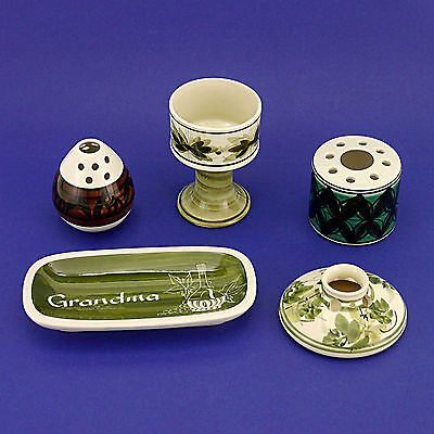 Collection of Vintage/Retro Studio Art Jersey/Guernsey Pottery  - Five Pieces