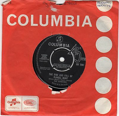 The Shadows...the Rise And Fall Of Flingel Bunt...columbia..uk..45