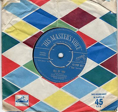 Ella Fitzgerald...all Of You / With A Song In My Heart...hmv..uk..45
