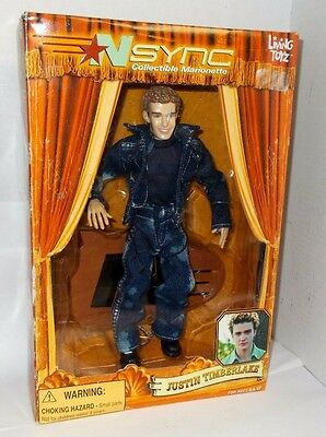 2000 JUSTIN TIMBERLAKE NSYNC Collectible Marionette Doll Figure - NIB