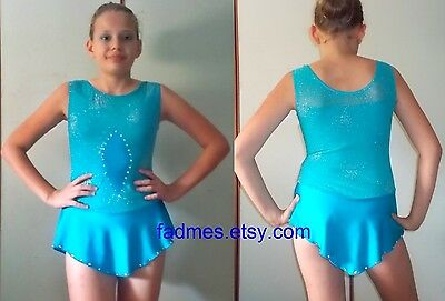 BODY per PATTINAGGIO ARTISTICO bambina 14-16 anni NEW skating dress 14-16 years