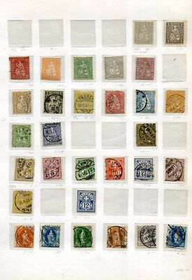 SWITZERLAND Early M&U COLLECTION  175 Stamps