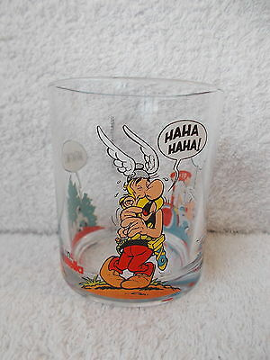 Asterix Nutella Glass - Asterix Laughing