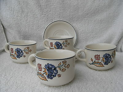Boots Camargue - 4 Cups & Saucers
