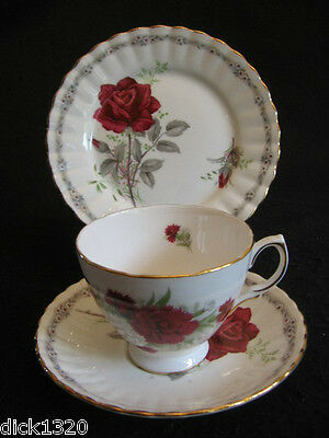VINTAGE CROWN ROYAL CHINA #D362 CUP/SAUCER/PLATE TRIO c.50's EX