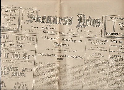 WW2 edition Skegness News April 1944 Lincolnshire illustrated local history