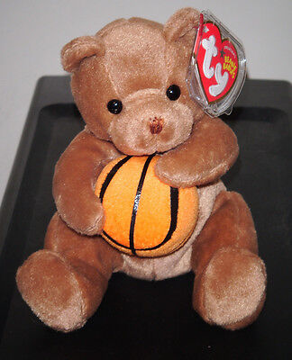 Ty Beanie Baby ~ HOOPS the Basketball Bear ~ MINT with MINT TAGS ~ RETIRED