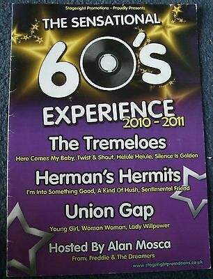 SIGNED PROGRAMME THE SENSATIONAL 60s EXPERIENCE TREMELOES HERMAN'S HERMITS