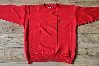 Vintage made in France Chemise Lacoste red cotton jumper size XL