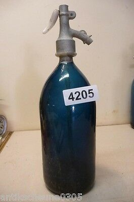 4205. Alte Sodaflasche  Siphonflasche 1 l Old soda siphon seltzer