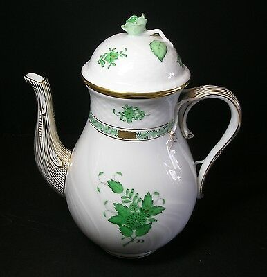 Herend Chinese Bouquet Large Coffee Pot  Never Used