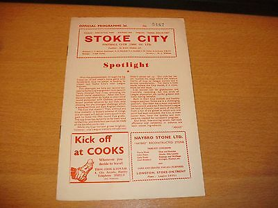 1959 4TH RD FA CUP STOKE CITY v IPSWICH TOWN