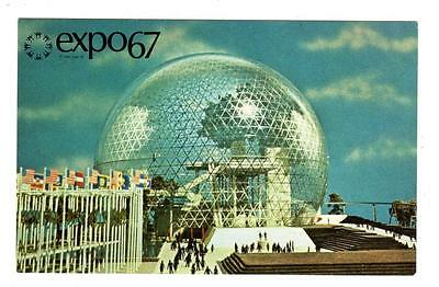 EXPO 67 EXPO67 MONTREAL CANADA Postcard PAVILION OF THE UNITED STATES