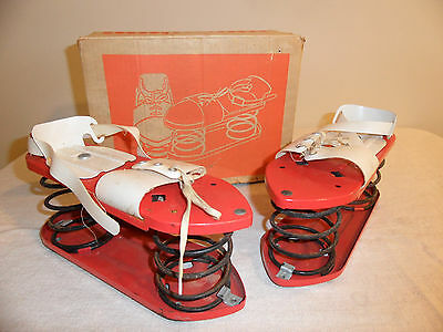 Vintage Creative Playthings Rare Bouncing Pogo Satellite Jumping Shoes with Box