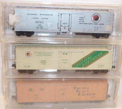 3 x MICRO-TRAINS N gauge 51' MECHANICAL REEFERS - PCE NP BOXED,                k
