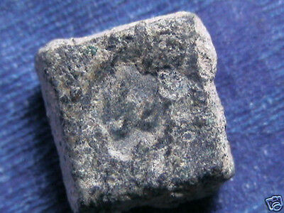 Uncleaned Islamic Fadimid 10-11 cen. AD. nice weight with LEGEND - Archaeology