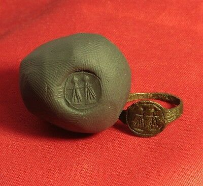 Medieval Engagement Seal Ring. 15. Century