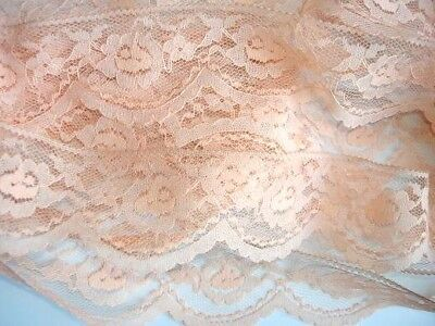 "10 yards Quality Elastic Spandex Floral Soft Lace 1.25/"" Trim//trimming T62-Brown"