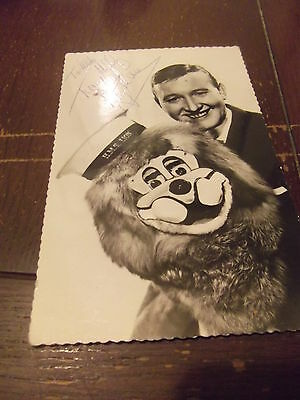Vintage Ventriloquist TERRY HALL & Lenny The Lion hand signed photo