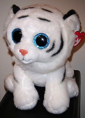 "Ty Classic Plush ~ TUNDRA the White Tiger (9"" Medium Buddy Size) ~ NEW ~ MWMT'S"
