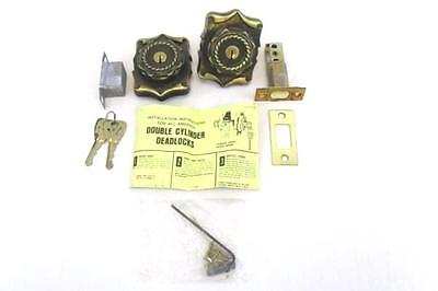 Double Cylinder Deadlock The Carriage House Collection Antique English C-9078-AE