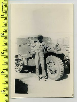 7th Armored Half-Track with G.I. named on reverse