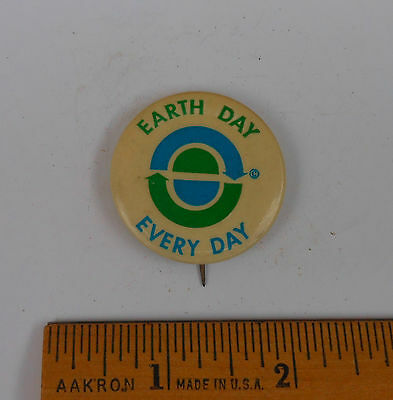 Vintage Early Original Earth Day Every Day Pinback Badge Button N G Slater Corp