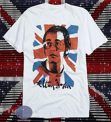 3f2dcaf4 New Elton John Union Jack British Flag Retro Vintage Classic Mens T-Shirt