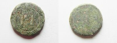 ZURQIEH -aa1669- LATE ROMAN-BYZANTINE BRONZE WEIGHT OF 1 NUMISMATA.