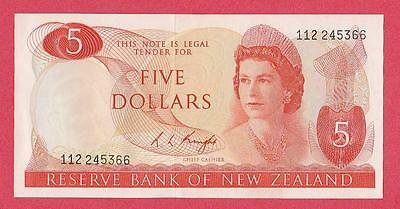 1975/77 New Zealand 5 Dollar Note Unc