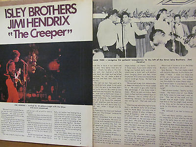 Jimi Hendrix, Two Page Vintage Clipping